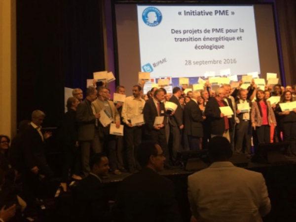 Plastrance lors de la remise des prix du Programme d'Investissements d'Avenir de l'ADEME en 2016.