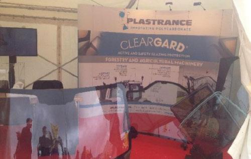 Les vitrages de sécurité en polycarbonate Cleargard ont été présentés lors du salon forestier Elmia Wood 2017.