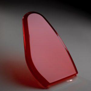 Capot médical en polycarbonate (PC) fumé rouge