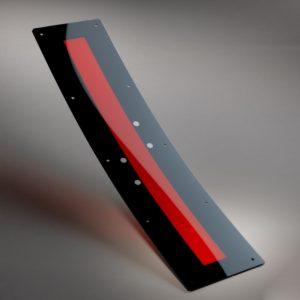 Déflecteur pour tramway en polycarbonate (PC) fumé rouge