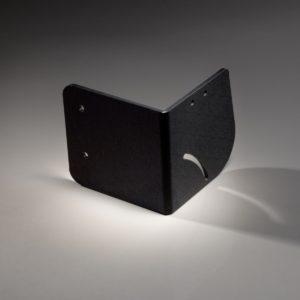 Pièce technique en polycarbonate (PC) noir pour le secteur de la sous-traitance industrielle