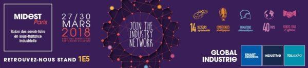 Plastrance sera présent au Midest Paris, salon de la sous-traitance « Global industrie »
